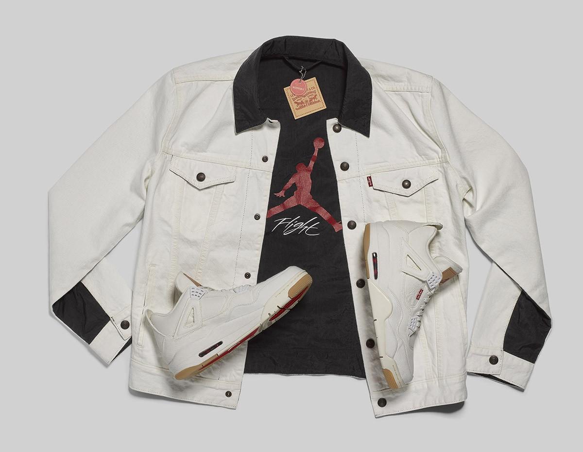Nuevos modelos exclusivos de la chaqueta vaquera Trucker Jacket de Levi's y las Air Jordan IV